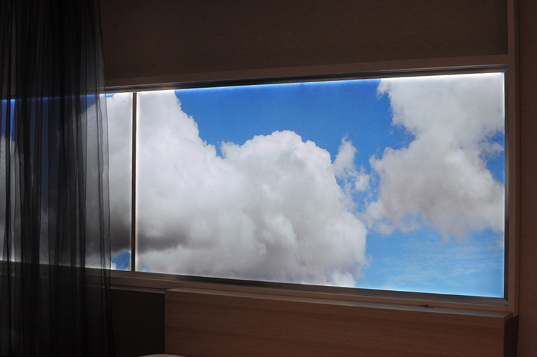 led light panel - clouds