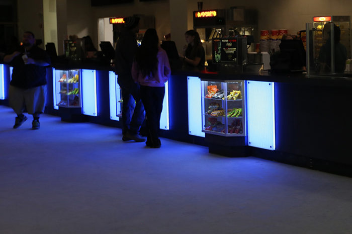 led lights color changing counter theater