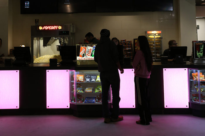theater led colorful lights counter
