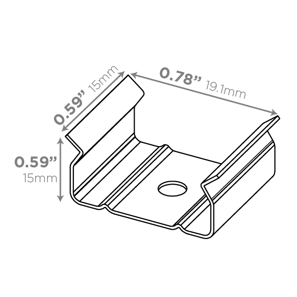 LUXLINEAR Normal 1715 Mounting ClipLUXLINEAR Normal 1715 Mounting Clip