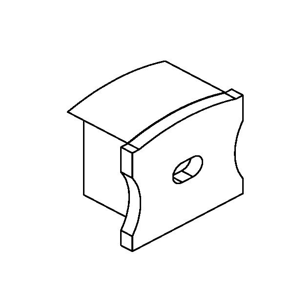 LUXLINEAR Normal 1715 End cap