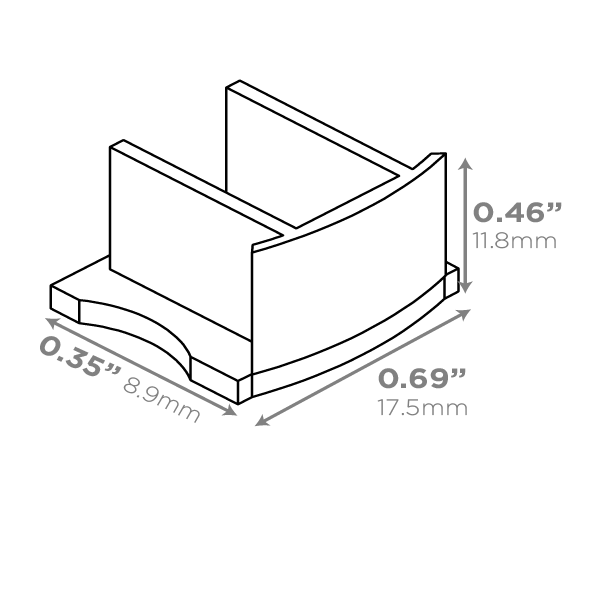 LUXLINEAR Normal 1715 End cap dimensions