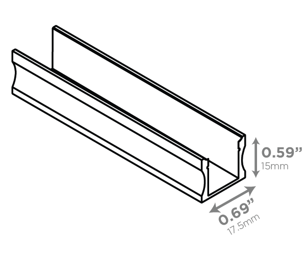 LUXLINEAR Normal-1715 Channel dimensions