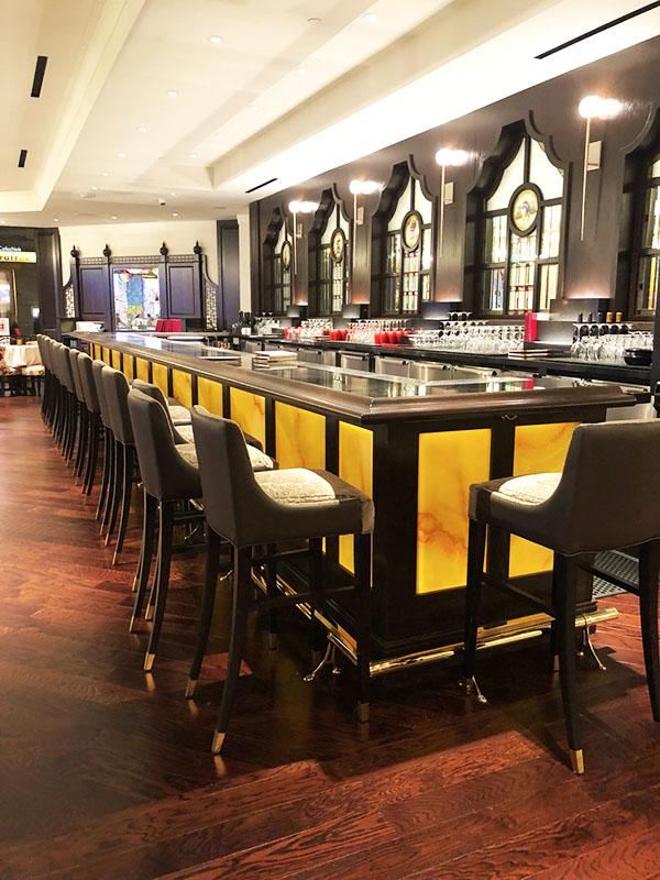 restaurant bar and stools led lights