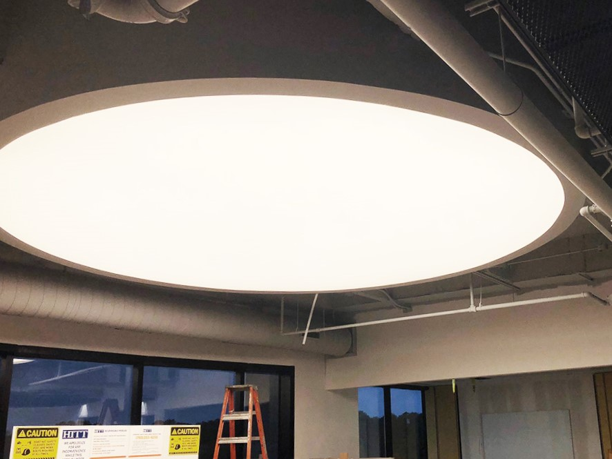 old castle round ceiling led light panel