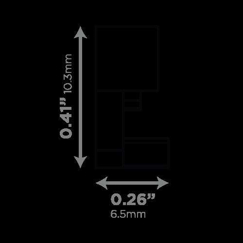 LEDCONN LUXLINEAR LED LIGHT TUBE MAGNETIC 1408M-ENDCAPS-VECTOR-DIMENSIONS_02_500x500px