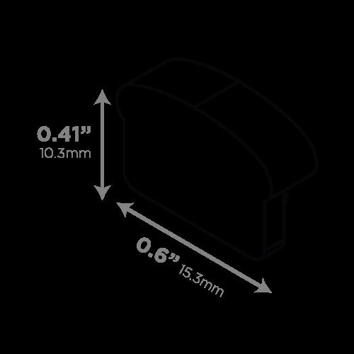 LEDCONN LUXLINEAR LED LIGHT TUBE MAGNETIC 1408M-ENDCAPS-VECTOR-DIMENSIONS_500x500px