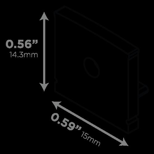 LEDCONN LUXLINEAR 1513M MAGNETIC LED LIGHT TUBE-END-CAPS-VECTOR-DIMENSIONS_01_500x500px