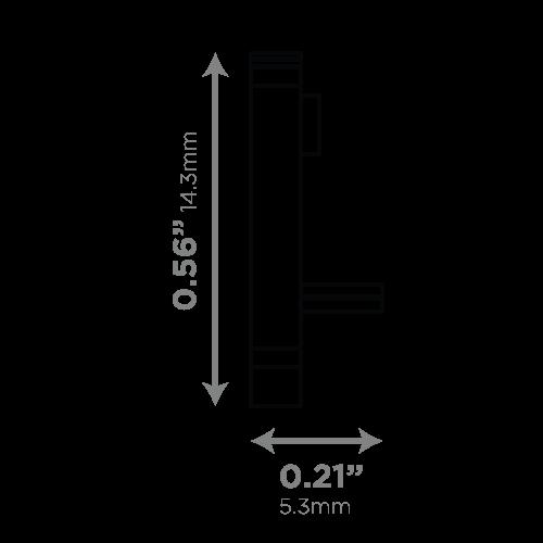 LEDCONN LUXLINEAR 1513M MAGNETIC LED LIGHT TUBE-END-CAPS-VECTOR-DIMENSIONS_02_500x500px