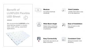 LED flexible sheet benefits infographic